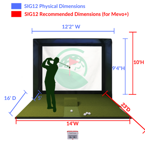 SIG12 Space Requirements and Dimensions for Mevo+