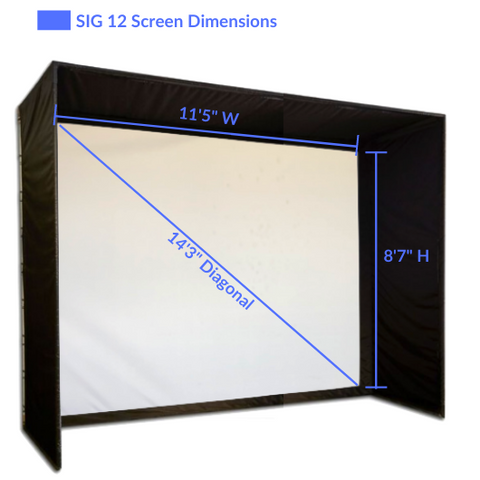 SIG12 Golf Simulator Screen Dimensions