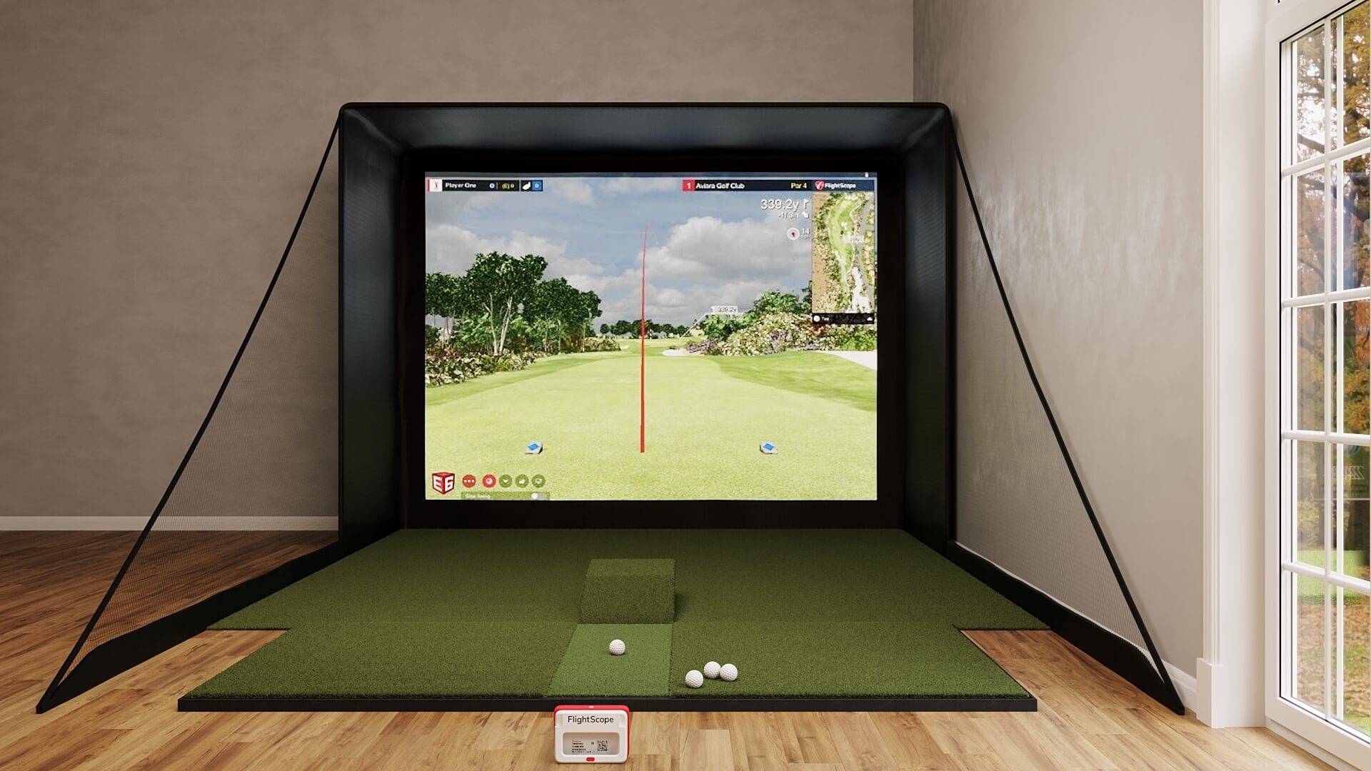 SIG12 FlightScope Mevo+ Golf Simulator Package