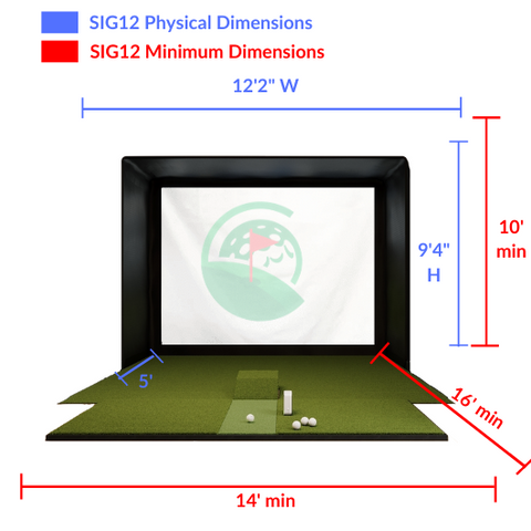 SIG12 Simulator Enclosure Minimum Space Requirements