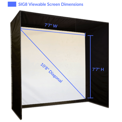 SIG8 Viewable Screen Dimensions