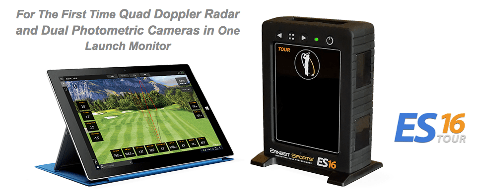 Ernest Sports ES16 golf launch monitor and simulator