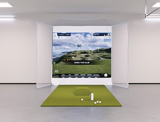 SkyTrak Flex Space Golf Simulator Package