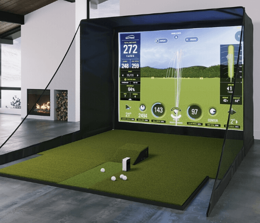 SkyTrak SIG10 Golf Simulator With 4x9 Fiberbuilt Golf Mat