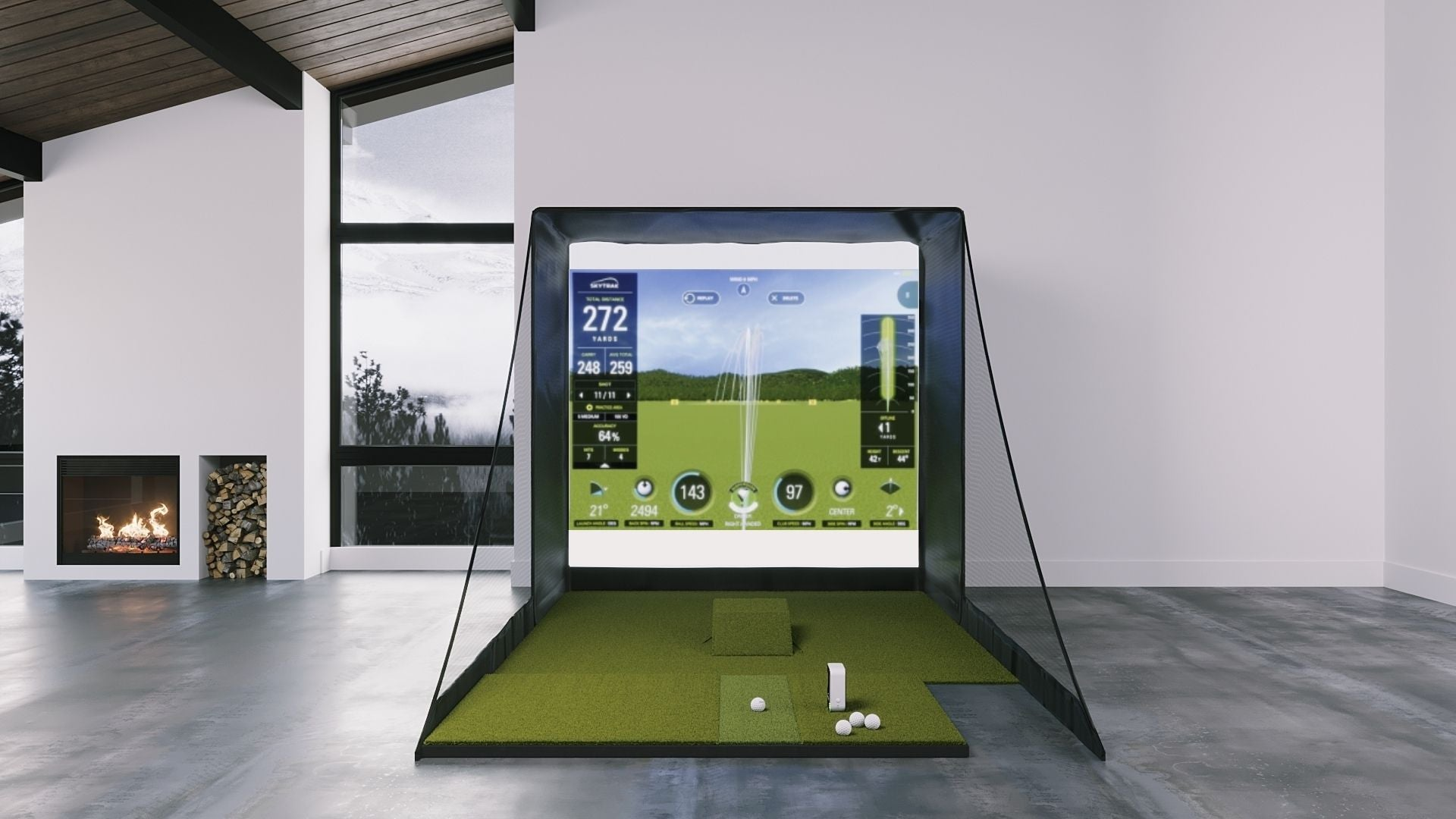 SkyTrak SIG8 Golf Simulator Package by Shop Indoor Golf