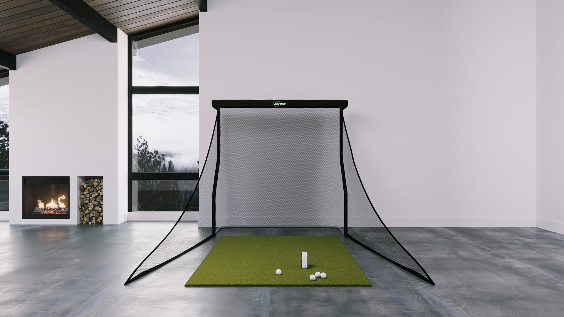 skytrak training golf simulator package