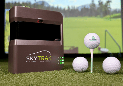 SkyTrak with Shop Indoor Golf Balls and Tee