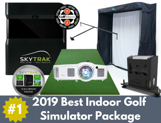 skytrak gold entertainment package is the best golf simulator