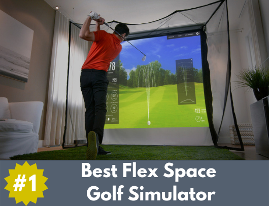 best flex space golf simulator package