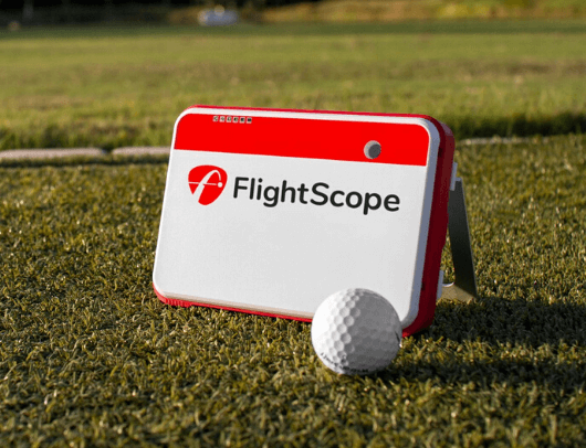 flightscope mevo plus with golf ball