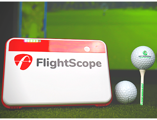 flightscope mevo plus launch monitor with shop indoor golf tee and ball