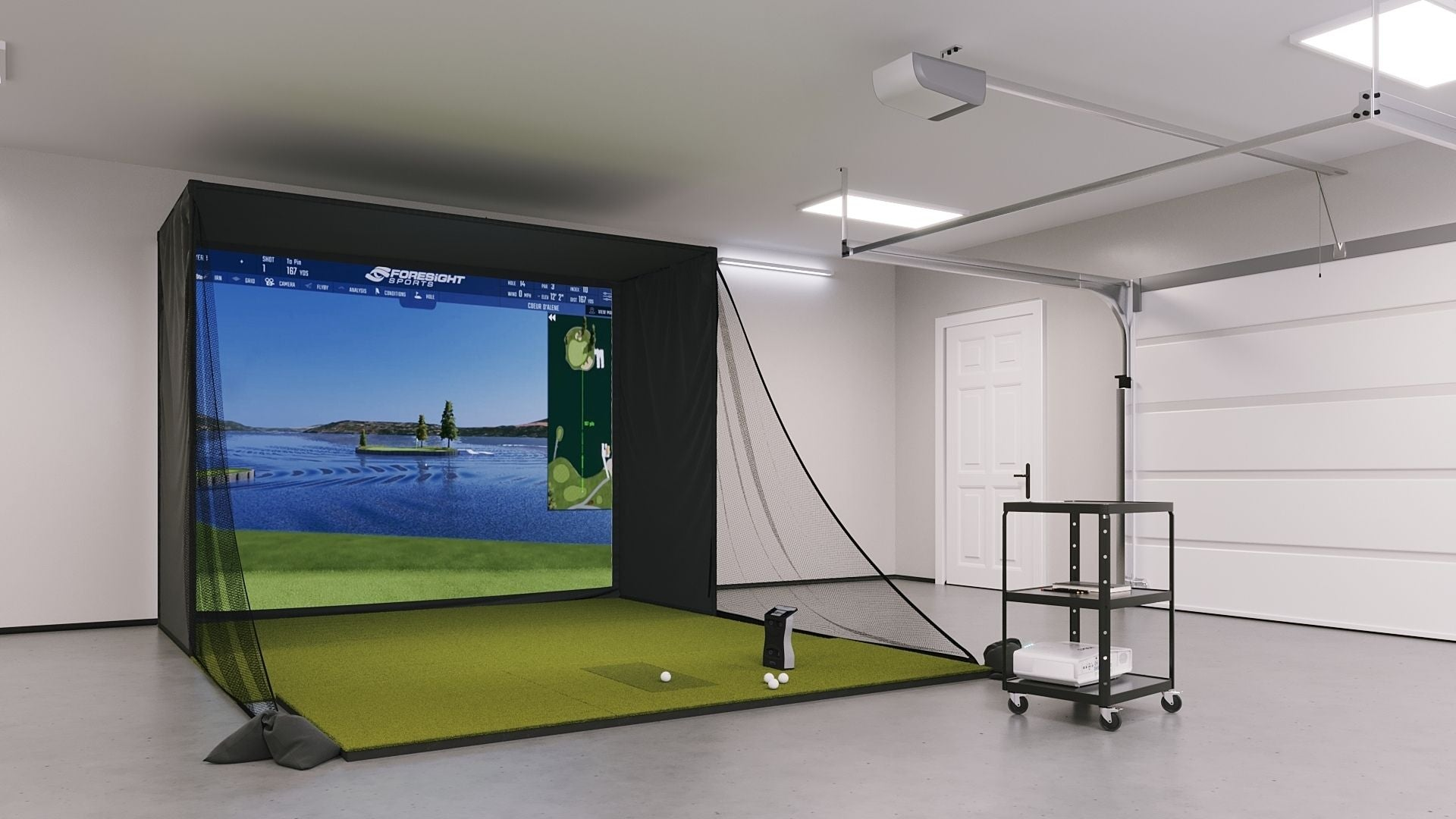 foresight-gcquad-golf-simulator-in-a-garage