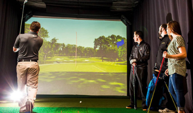 hd golf simulator customer training