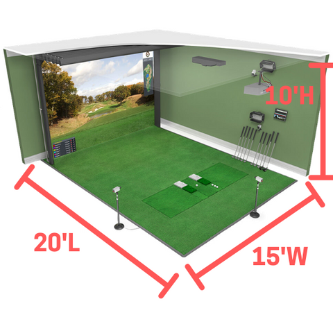 hd golf simulator size and space requirements