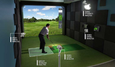 hd golf simulator installation
