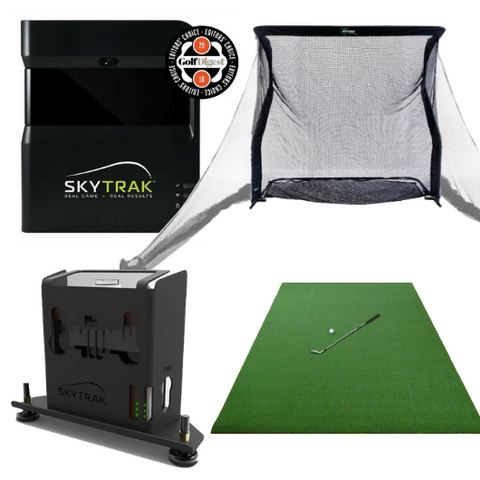 included with skytrak silver training golf simulator package