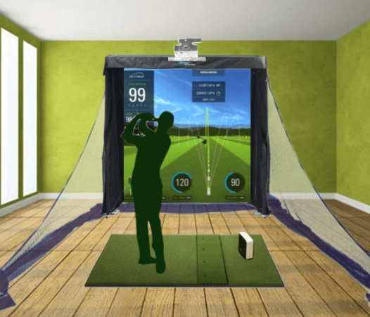 skytrak golf simulator gold training package