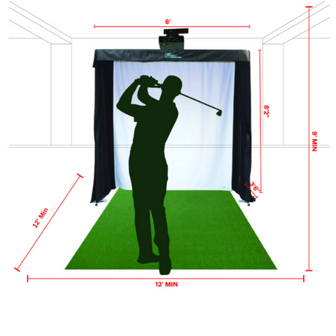 golf simulator space requirements
