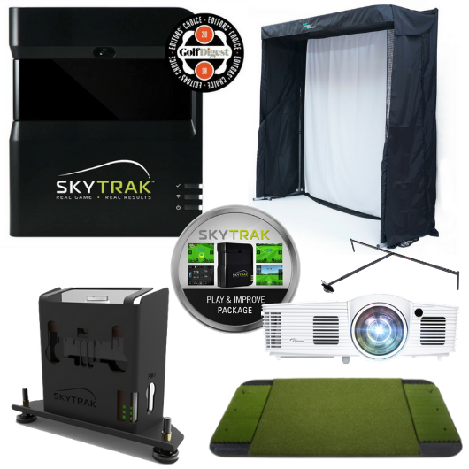 SkyTrak Indoor Golf Simulator Gold Entertainment Package
