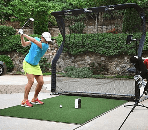 skytrak golf simulator training package