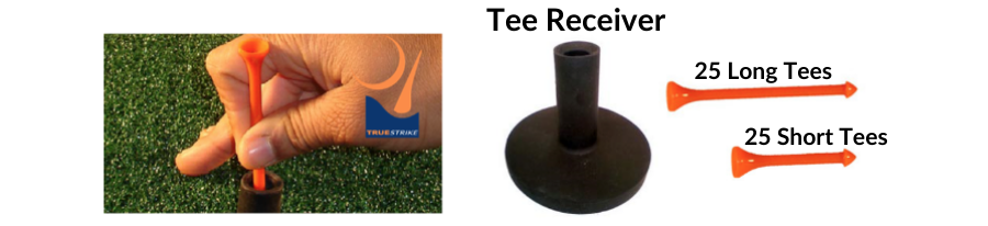 adjustable golf tee system for truestrike golf mats