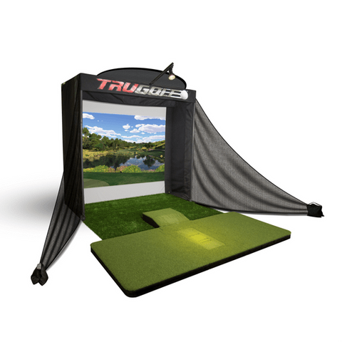 trugolf vista 8 pro golf simulator package