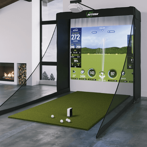 what your skytrak sig8 golf simulator setup will look like