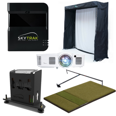 included in the skytrak gold training golf simulator package
