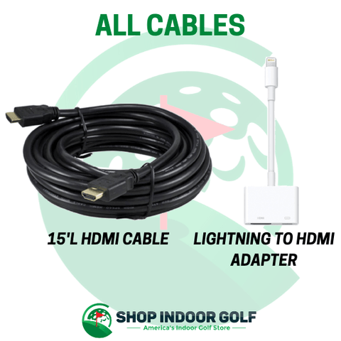 cables included with SIG10 Golf Simulator