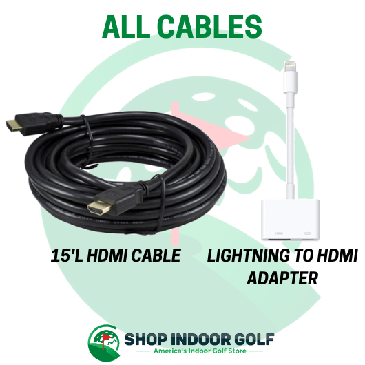 cables included with SIG8 Golf Simulator