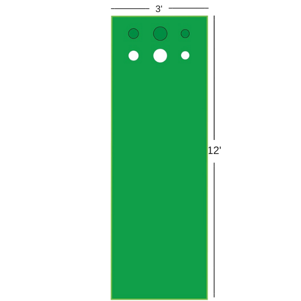 Big Moss Competitor Pro V2 Putting Green and Chipping Mat Dimensions