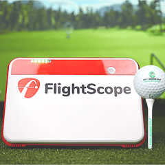 Flighscope mevo plus with shop indoor golf ball and tee