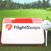 Image of Flighscope mevo plus with shop indoor golf ball and tee