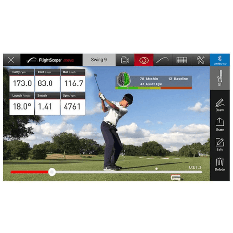 flightscope mevo automatic video capture