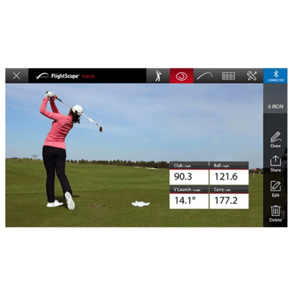 flightscope mevo stat overlay with automatic video capture