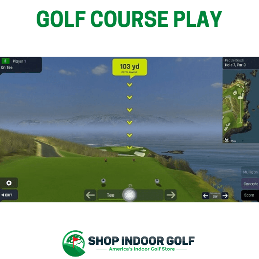 Golf Course Play with Optishot Ballflight