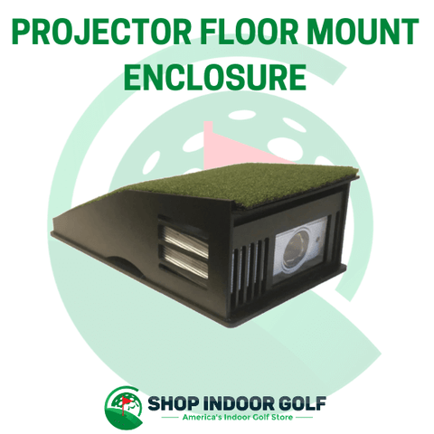 projector shield floor mount enclosure for golf simulators