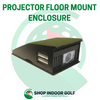 Image of projector shield floor mount enclosure for golf simulators