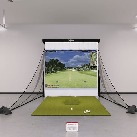 flightscope mevo plus bronze golf simulator package