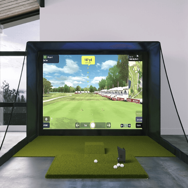 OptiShot BallFlight SIG10 Golf Simulator with 5x5 mat
