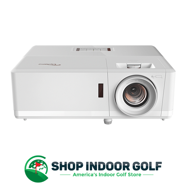 Optoma zh406 golf simulator projector front view