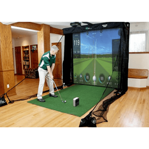 The Net Return Simulator Golf Net with SkyTrak