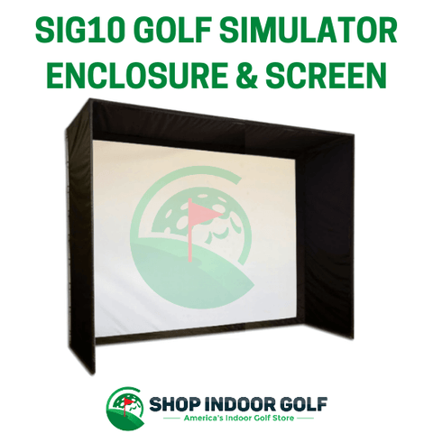 SIG10 Golf simulator screen and enclosure