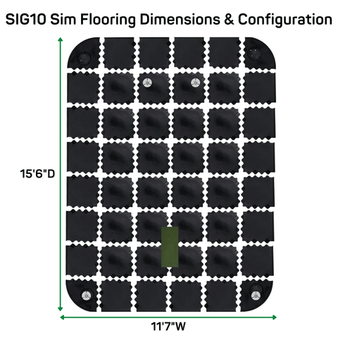 sig10 sim flooring dimensions and configuration