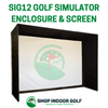 Image of SIG12 Golf Simulator Screen Enclosure for BallFlight Launch Monitor