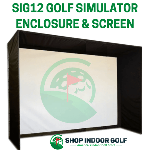 SIG12 golf simulator enclosure from shop indoor golf