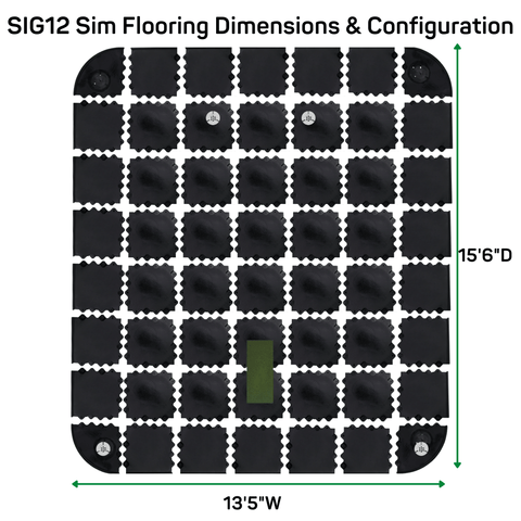 sig12 simulator flooring dimensions and configuration