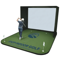 SIGPRO golf simulator flooring 45 degrees