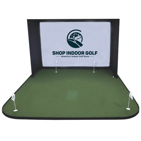 SIGPRO golf simulator flooring straight shot