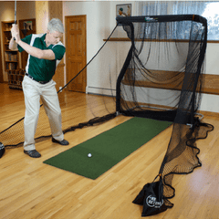The Net Return Mini Runner Golf Net With Mat Package